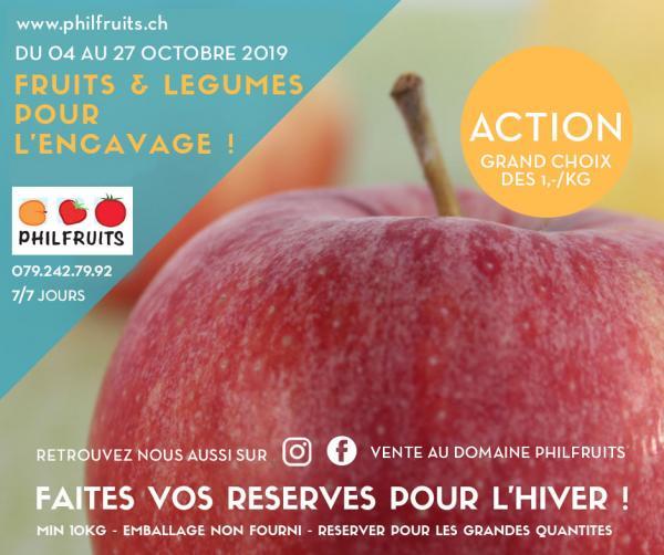 Action d'encavage: fruits et légumes de garde